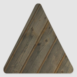 Abstract Fake Wood Grain Triangle Sticker