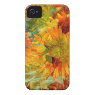 Abstract Fall Color Flowers Case-Mate iPhone 4 Cases