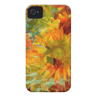 Abstract Fall Color Flowers iPhone 4 Case-Mate Case