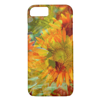 Abstract Fall Color Flowers iPhone 8/7 Case