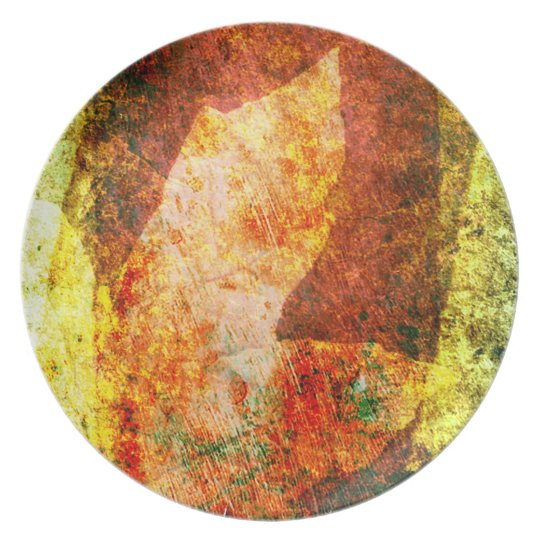 Abstract Fall Leaf Dinner Plate