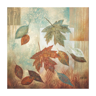 Abstract Fall Leafs Canvas Print