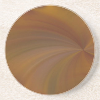 Abstract Fall Radial Twirl Sandstone Coaster