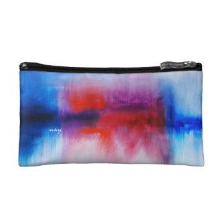 Abstract Fallen Clouds Bagette Makeup Bag