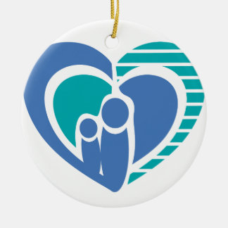 Abstract family love ceramic ornament