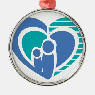 Abstract family love metal ornament