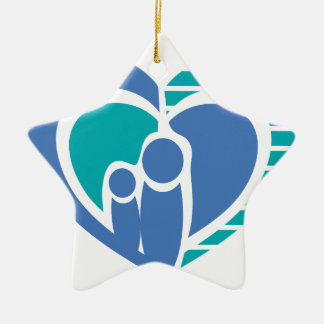 Abstract family love christmas ornaments