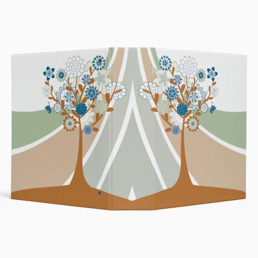 Abstract Family Tree Genealogy Binder 3 Ring Binder