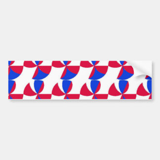 Abstract Fan Colour Bumper Sticker