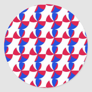Abstract Fan Colour Classic Round Sticker