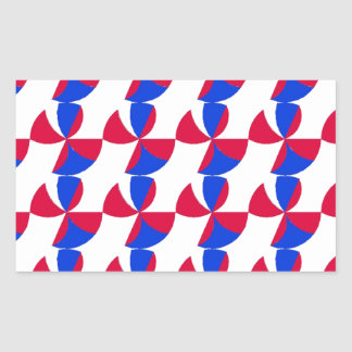 Abstract Fan Colour Rectangular Sticker