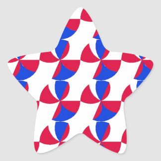 Abstract Fan Colour Star Sticker