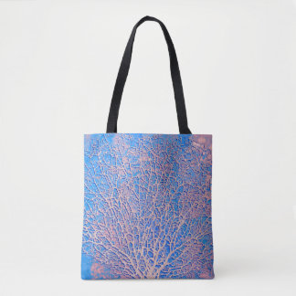 Abstract fan coral tote bag