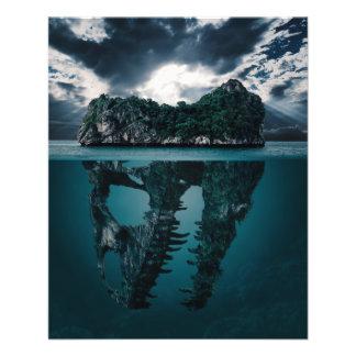 Abstract Fantasy Artistic Island Flyer