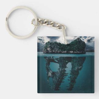 Abstract Fantasy Artistic Island Keychain