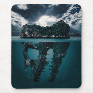 Abstract Fantasy Artistic Island Mouse Pad