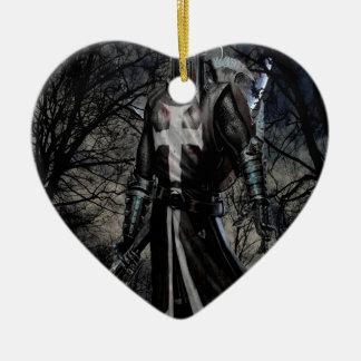 Abstract Fantasy Black Knight Plague Ceramic Ornament