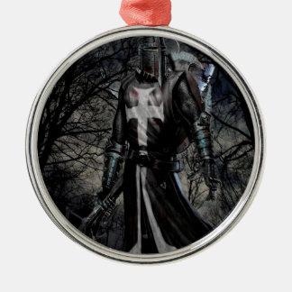 Abstract Fantasy Black Knight Plague Metal Ornament