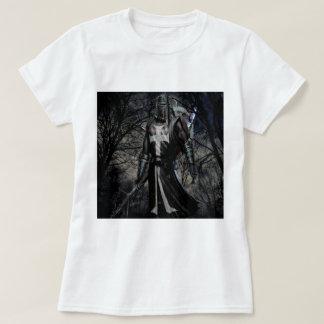 Abstract Fantasy Black Knight Plague T-Shirt