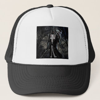 Abstract Fantasy Black Knight Plague Trucker Hat
