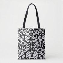 Abstract Fantasy Black Shoulder Handbag