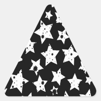 Abstract Fantasy Black Starry Stars Triangle Sticker