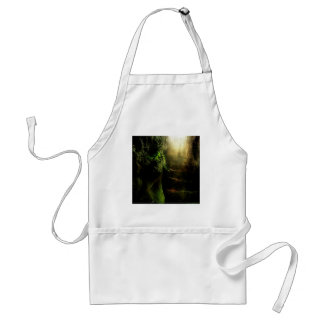 Abstract Fantasy Cat Stairs Light Adult Apron