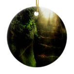 Abstract Fantasy Cat Stairs Light Ornament