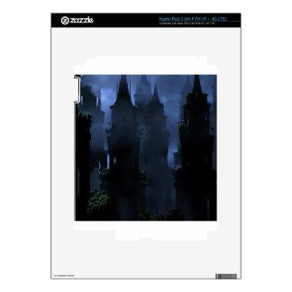 Abstract Fantasy Dark Kingdom Hell Skin For iPad 3