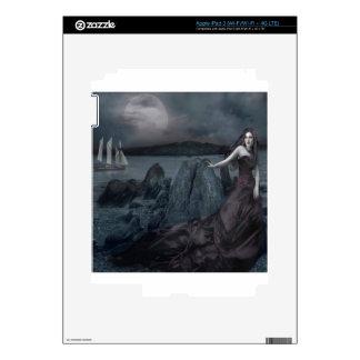 Abstract Fantasy Dark Princess Sea Shore Skin For iPad 3