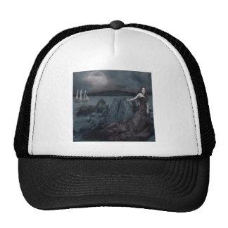 Abstract Fantasy Dark Princess Sea Shore Trucker Hat