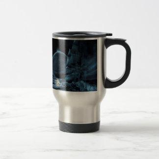 Abstract Fantasy Dark Ship Eclipse Mugs