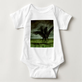 Abstract Fantasy Devils Horse Pegassus Baby Bodysuit