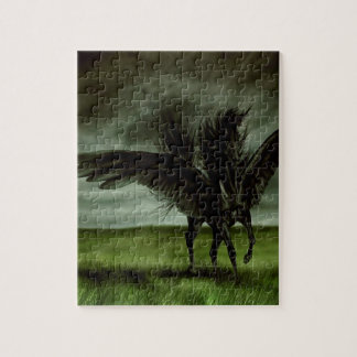Abstract Fantasy Devils Horse Pegassus Jigsaw Puzzle