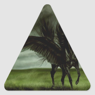 Abstract Fantasy Devils Horse Pegassus Triangle Sticker