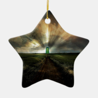 Abstract Fantasy Door To Nowhere Christmas Tree Ornament