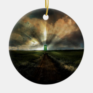 Abstract Fantasy Door To Nowhere Christmas Ornaments