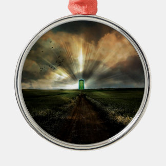 Abstract Fantasy Door To Nowhere Christmas Ornament