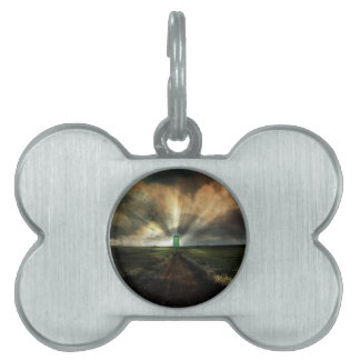 Abstract Fantasy Door To Nowhere Pet ID Tag