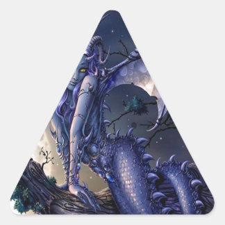 Abstract Fantasy Dragon Girl Flirt Triangle Stickers
