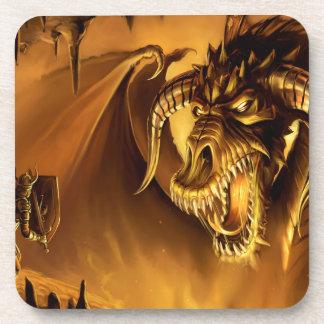 Abstract Fantasy Evil Serpant Fights Coasters