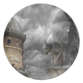 Abstract Fantasy Evil Tower Of Spells Party Plates