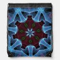 Abstract fantasy flower bag backpacks