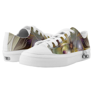 Abstract Fantasy Flower Fractal Art Low-Top Sneakers
