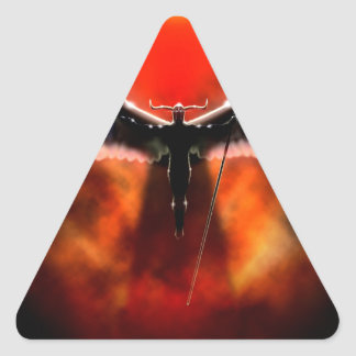 Abstract Fantasy God Of War Ares Triangle Sticker