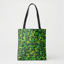 Abstract Fantasy Green Shoulder Handbag