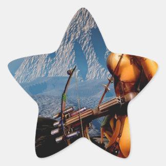 Abstract Fantasy Innocent Head Hunter Star Sticker