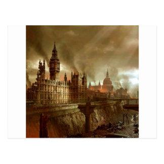Abstract Fantasy London Aftermath Postcard
