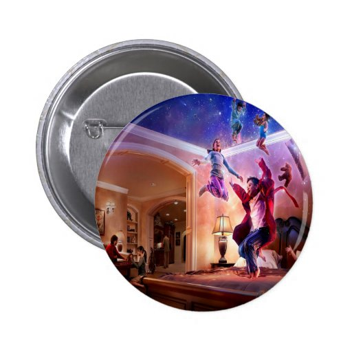 Abstract Fantasy Peter Pan Celebration Buttons