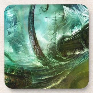Abstract Fantasy Pirates Nightmare Treasure Coasters